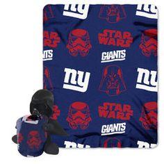 New York Giants NFL Star Wars Darth Vader Hugger & Fleece Blanket Throw Set