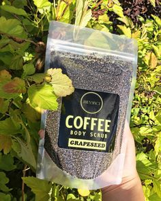 Grapeseed Coffee Scrub ☕️🍇🍃 Not only does this scrub work wonders for oily prone skin, it also has a lovely citrus scent!   www.JANESSENCE.com  #JANESSENCE #LUXURIZEYOURLIFE    #coffee #coffeescrub #coffeescrubs #scrub #body #beauty #benefits #grape #citrus #smellsgood #fresh #organic #natural #wellness #health #mtl #montreal #organicskincare #skincare #photooftheday #grapefruit #allnatural #vegan #green #grapeseed #caffeine