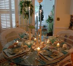 Beach Tablescape: The 49th Tablescape Thursday. Isn't this gorgeous?