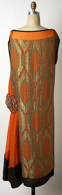 Evening dress (image 3 - back) | Liberty & Co. | British | 1920-25 | silk | Metropolitan Museum of Art | Accession Number: 1975.402.3
