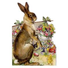Tags: German card, bunny, Easter, Easter card