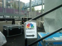 CNBC's studio London is situated at the doorstep to the bridge to the #Olympics. Wish you were here!
