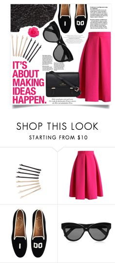 """ideas..."" by tea-and-honey ❤ liked on Polyvore featuring ban.do, Chicwish, J.Crew, Linda Farrow and Sloane"