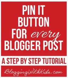 Pin it Button for Every Post in Blogger