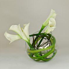 Real Touch White Calla Lily Artificial Faux Arrangement Home Decor Centerpiece contemporary artwork