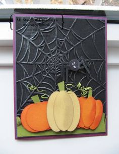 Web & Punchkins by Trishka - Cards and Paper Crafts at Splitcoaststampers