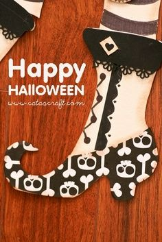 Halloween craft witches boot I love this!
