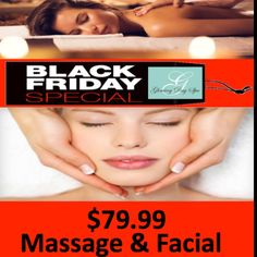 Black Friday Special — Happy thanksgiving!  Enjoy Complimentary Organic Teas and snacks while you indulge with a  Massage and Facial for only $79.99!! Expires November 30th 2017  Book your appointment or buy this gift for you or your loved ones its s beautiful way to say thank you! Call (561)405-6694 Text (561) 289-6162