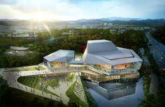 Galeria de designcamp moonpark dmp vence concurso para projetar o Asan Cultural…