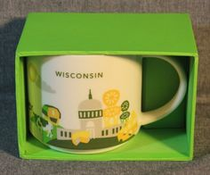 NEW - WISCONSIN STARBUCKS YOU ARE HERE COLLECTION MUG - NEW IN GIFT BOX #Starbucks