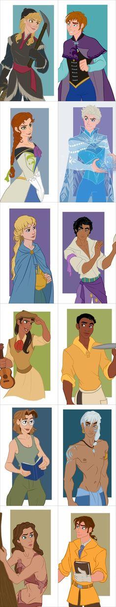 Princesas versión chico
