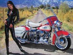 women+motorcycle | 1966 Harley Davidson FLH Electra Glide, davidson, flh, girl, harley ...