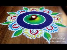 beautiful Rangoli Designs with colours by Shital Daga/ Diwali rangoli designs Easy Rangoli Designs Videos, Rangoli Designs Simple Diwali, Indian Rangoli Designs, Rangoli Designs Latest, Simple Rangoli Designs Images, Rangoli Designs Flower, Free Hand Rangoli Design, Rangoli Border Designs, Small Rangoli Design