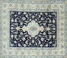 Persian Nain Silk combined rug - 290x250 cm