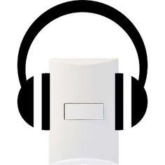 Adesivo Interruptor Tomada Fone De Ouvido Música Frete Gráti - R$ 12,00