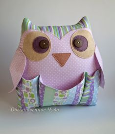 Owl Crafts, Animal Crafts, Baby Crafts, Hippie Crafts, Owl Cushion, Felt Owls, Pencil Toppers, Fabric Toys, Easy Quilts