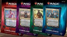 MTG Commander 2019 Set of 4 Decks Inner Case Magic the Gathering Factory Sealed