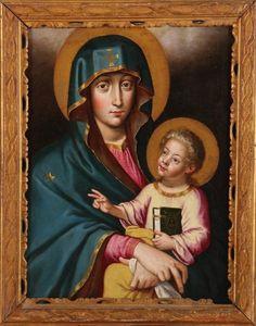 Salus Populi Romani An 18th century copy of the miraculous icon of Mary in the basilica of Santa Maria Maggiore, Rome.