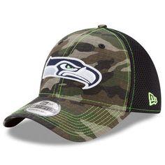 Seattle Seahawks New Era Woodland Shock Stitch Neo 39THIRTY Flex Hat - Camo