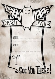 free printable halloween party invite  giveaway  monster party, party invitations