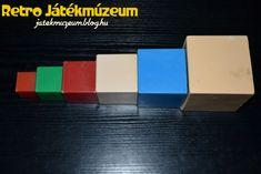 Varázsdoboz játékot, aminek segítségével az apró gyerekek megtanulhatták a formákat, egymásra vagy egymásba illeszthették azokat játékos formában.