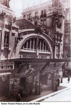 Desaparecido Teatro Trianon. En el Paseo de Ruzafa. Años 30.