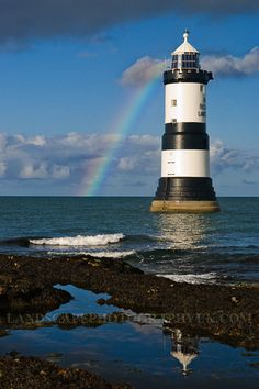 Penmon Point Lighthouse, Anglesea, Wales.