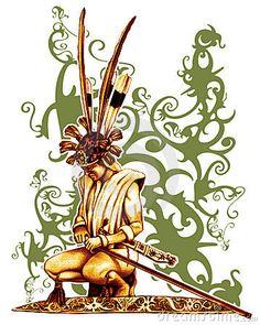 Illustration about Warrior Of Dayak design illustration. Illustration of illustration, warrior, kalimantan - 4727243 Wolf Tattoos, Body Art Tattoos, Filipino Tribal Tattoos, Hawaiian Tribal Tattoos, Family First Tattoo, Cross Tattoo For Men, Nordic Tattoo, Japanese Tattoo Designs, Cute Cartoon Wallpapers