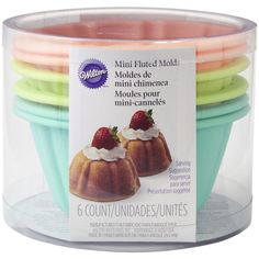 Turn your favorite Bundt cake recipe into individually sized mini cakes. With this 6-Piece Silicone Mini Fluted Tube Pan Set you can bake individual servings for a more personalized treat.