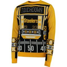Pittsburgh Steelers Black Light-Up Ugly Sweater - saw this today, it's actually pretty cool but i dont like sweaters