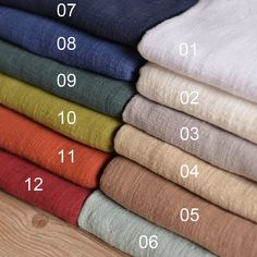 Soft Washed Linen Cotton Gauze Fabric 1/2 meter by Sewingworld
