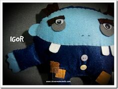 ~ i never thought Igor could be this cute... a plushie from Oliver Makes Dolls ~
