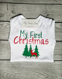 0d6410b343466 First Christmas Deer Christmas Reindeer Christmas Shirt