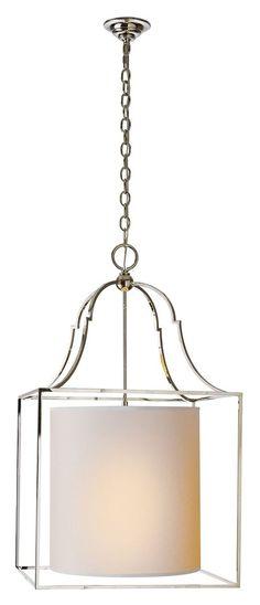 Gustavian Lantern, Polished Nickel