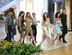Let's go girls: Kim commanded this brigade with her regal influence...