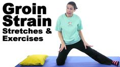 Groin strains can be very painful, and the whole inner thigh might hurt. These simple stretches and exercises should help the healing process. See Doctor Jo's blog post about this at: http://www.askdoctorjo.com/groin-strain