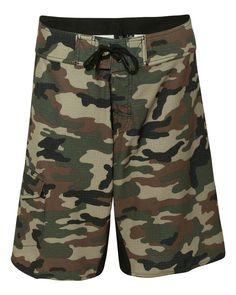 e9c3978e04 Burnside - Camo-Diamond Dobby Board Shorts - B9371 Camo Swimwear, Mens  Boardshorts,