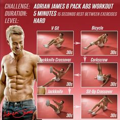 5 Minutes Sixpack Abs Workout Hard - Health Fitness Training Fly