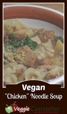 Slow Cooker Vegan Chicken Noodle Soup