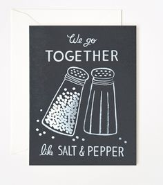 Salt & Pepper Card. This would be cute in a frame.
