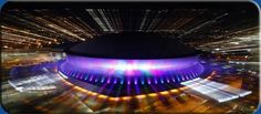 Lighting of the Mercedes-Benz Superdome in New Orleans Louisiana Homes, New Orleans Louisiana, Mardi Gras, San Diego, San Francisco, Mercedes Benz, New Orleans Saints Football, Crescent City, New Orleans