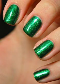 China Glaze Running in Circles. Emerald green, the color of the year!
