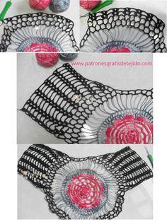 Hermosa remera con centro redondo para tejer al crochet   Cuando de tejer al crochet se trata, las posibilidades de motivos y diseños no ti...