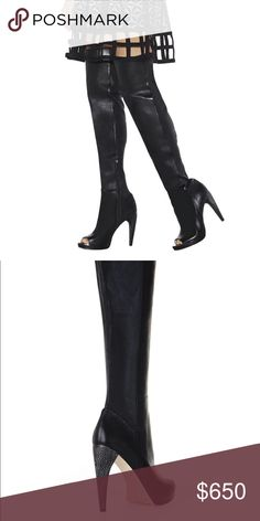 Herve Leger Thigh High Boots - Never Worn Herve Leger thigh high boots - never been worn. Herve Leger Shoes Over the Knee Boots