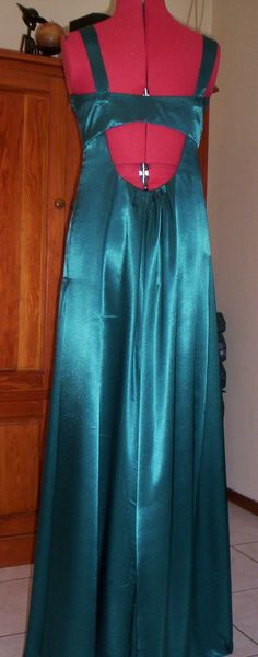 Evening dress view from the back