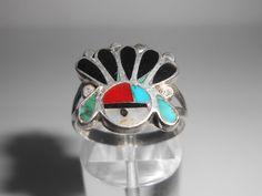 Zuni Sunface Sterling Ring Size 7 Mother Of by Libbysmomsvintage