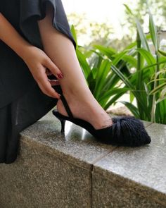 11af887e24da Dance in style this Friday night with these black short heeled  INTOTOs .