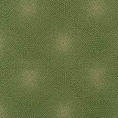 Robert Kaufman Fabrics: SRKM-15835-7 GREEN from Grand Majolica