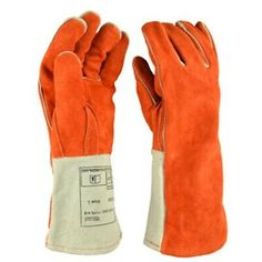 Hot 1 Pair Leather Welding Gloves Heat Shield Cover Hand Safety Wear LG