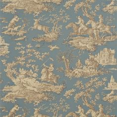 Sanderson - Traditional to contemporary, high quality designer fabrics and wallpapers | Products | British/UK Fabric and Wallpapers | Stag Hunting (DEGTST102) | Toile Wallpapers